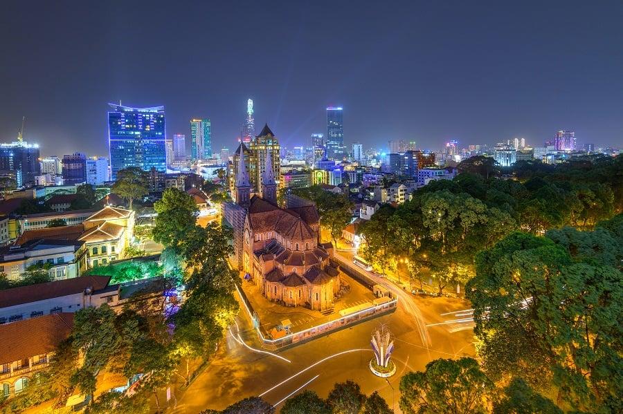 beauty notre dame cathedral architecture buildings vietnam