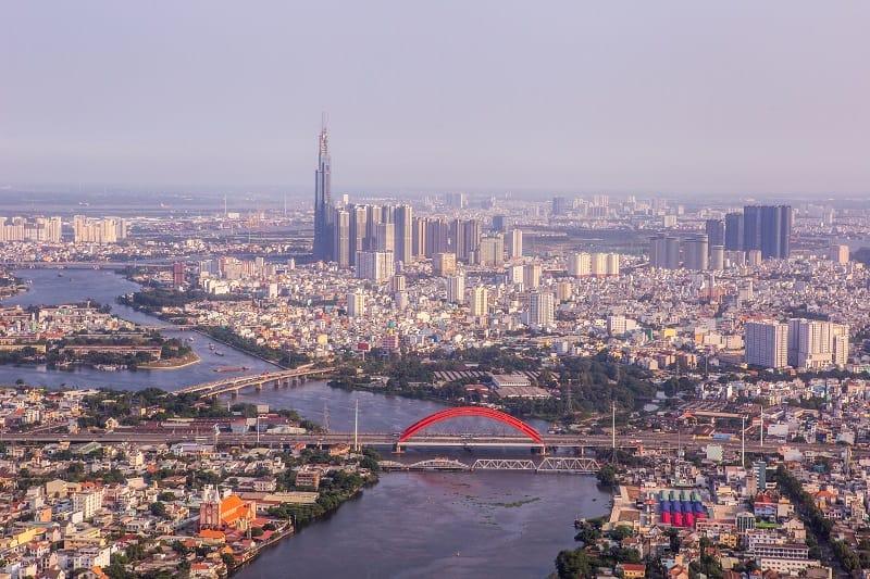 ho chi minh city s high rise office building vietnam
